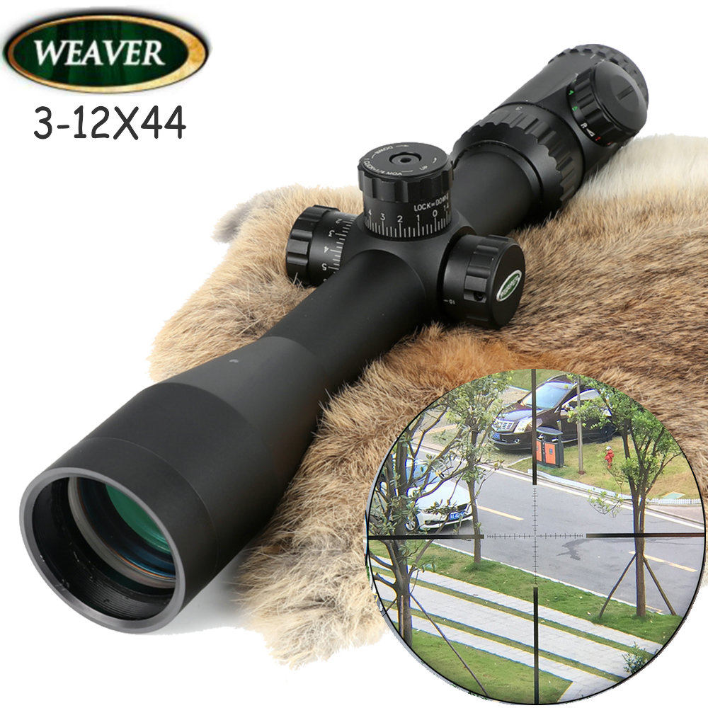 Weaver Kaspa 3-12X44 Optical Sight P4 Glass Etched Reticle Riflescopes Side Paralla Rifle Scope Hunting Shooting Riflescope цена