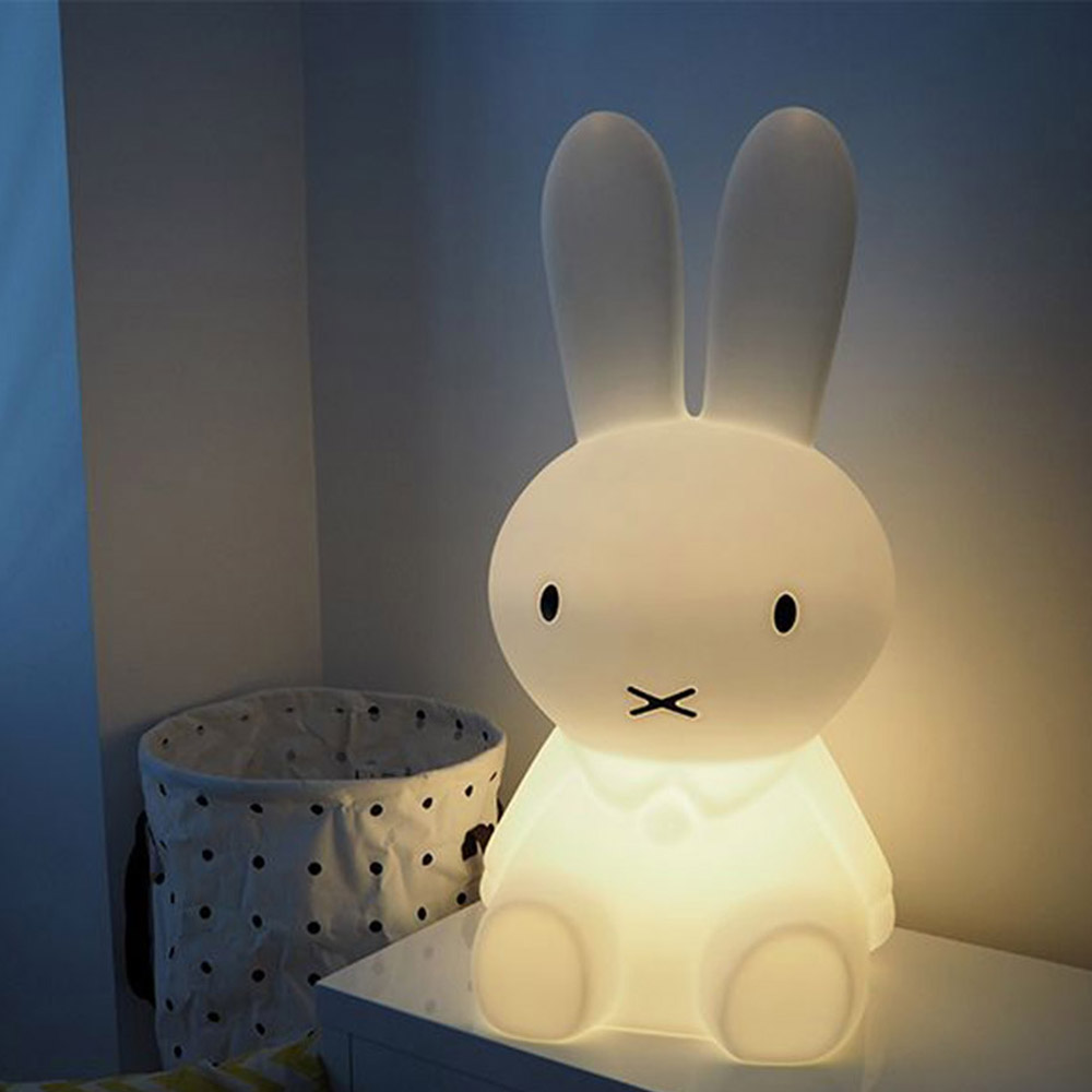 50cm Rabbit Children LED Night Light Rechargeable Cartoon Night Lamp for Children Baby Bedroom Birthday Christmas Gift decorative cartoon bear led night light silicone white bedside night lamp for children baby christmas birthday gift