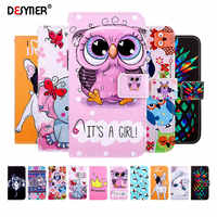 Leather Flip Wallet Case for Huawei P20 P10 P30 Lite Pro Mate 20 X Y9 2019 Y5 2018 Honor 9 Lite Book Style Painted Phone Cases