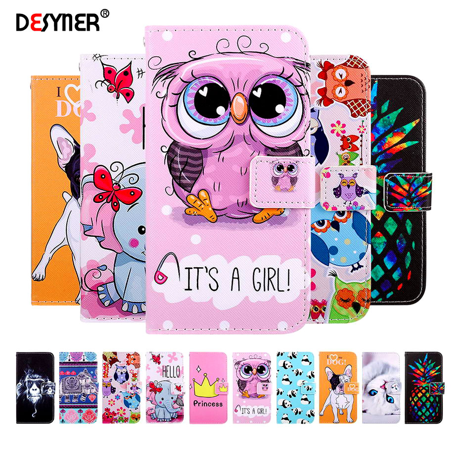 Leather <font><b>Flip</b></font> Wallet <font><b>Case</b></font> for Huawei P20 P10 P30 <font><b>Lite</b></font> Pro <font><b>Mate</b></font> <font><b>20</b></font> X Y9 2019 Y5 2018 Honor 9 <font><b>Lite</b></font> Book Style Painted Phone <font><b>Cases</b></font> image