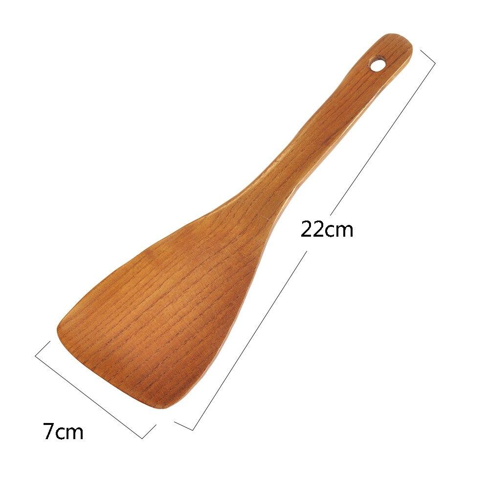 Koken rijst met houten lepel en spatel kan worden gemaakt met houten spatel voor keuken bar en eetkamer A30314