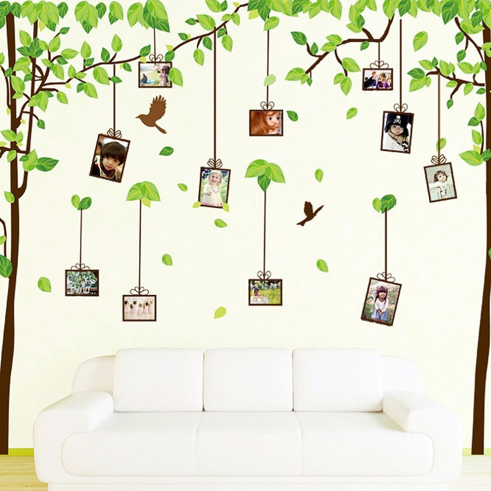 compare prices on 3d family tree wall art online shopping buy low 60 90cm 3d diy photo tree pvc wall decals adhesive family wall stickers for