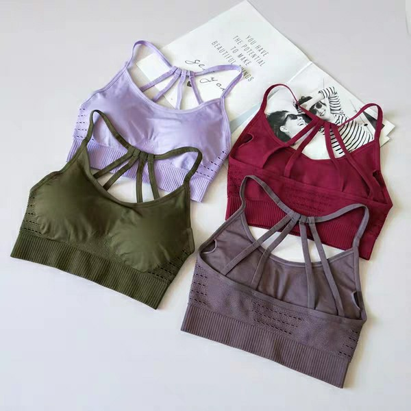 New hanging dyed gradient sports bra Europe and the United States back fitness sports yoga seamless underwear Bra Sports underwe in Sports Bras from Sports Entertainment
