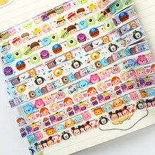Wholesale 50pcs Tsum Tsum mini Minnie Donald Duck Winnie Sticker Colored Masking Tapes Decorative Adhesive Scrapbooking