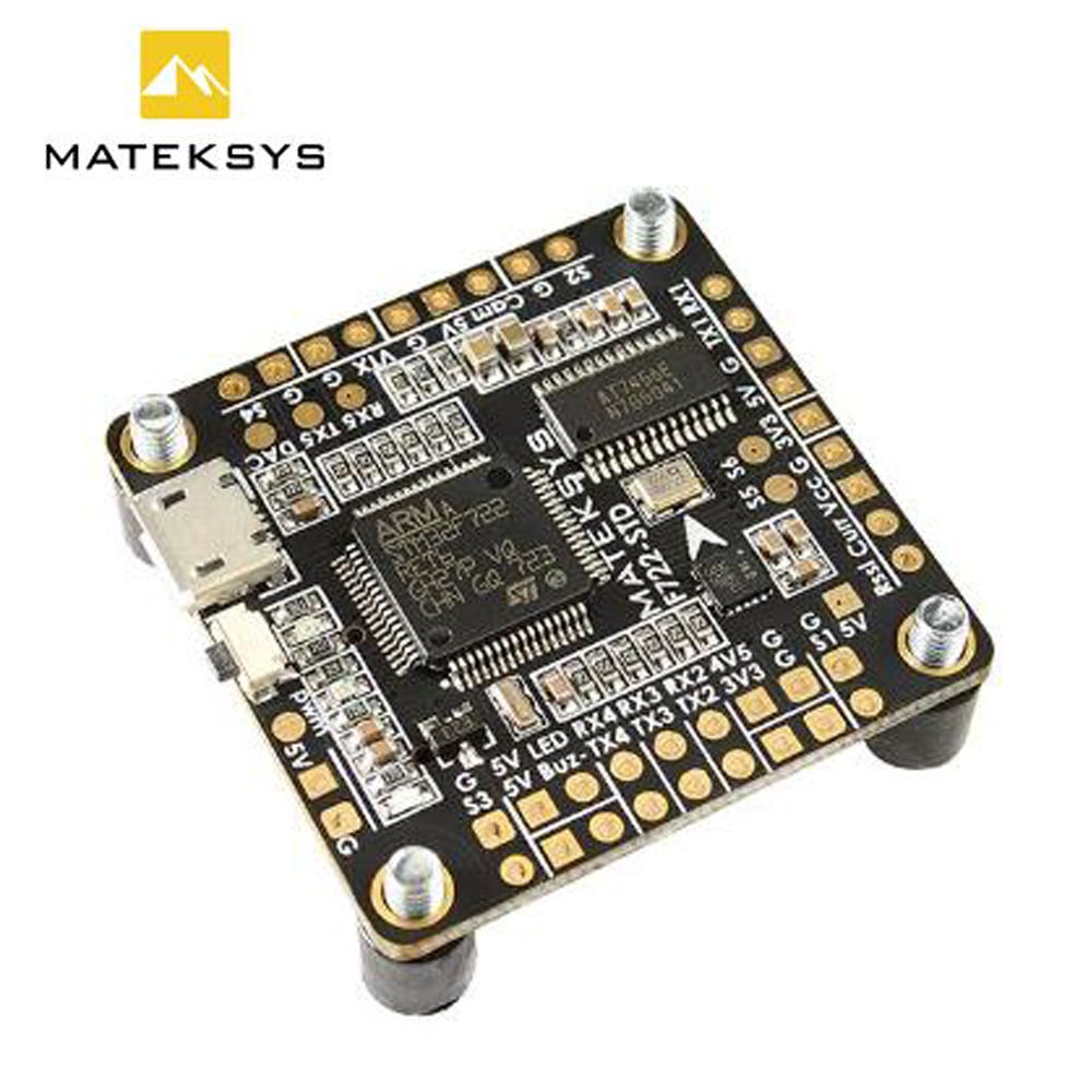 Matek Systems F722-STD F722 STD STM32F722 Flight Controller Built-in OSD BMP280 Barometer Blackbox for RC Models Quadcopter junior republic junior republic шапка с помпонами молочная