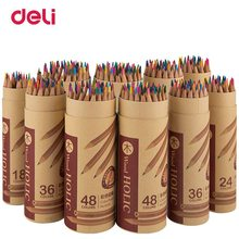 Deli Wooden Colored Pencils Set Soluble Pencil For Kids Drawing Pencils Sketch Artists Painting Supplies 12