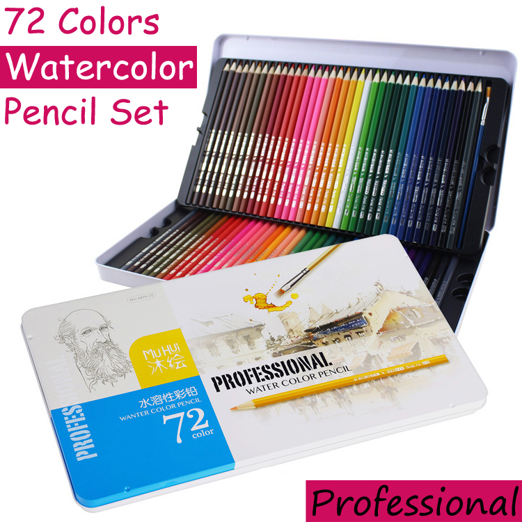 72 Colors Watercolor Pencils Set Professional Water Soluble Color Pencil Lapis De Cor Art Pencil Lapices Colores School Supplies 24 36 colors watercolor pencils lapis de cor professional lapis escolar school paint water soluble color hydrotropic carton