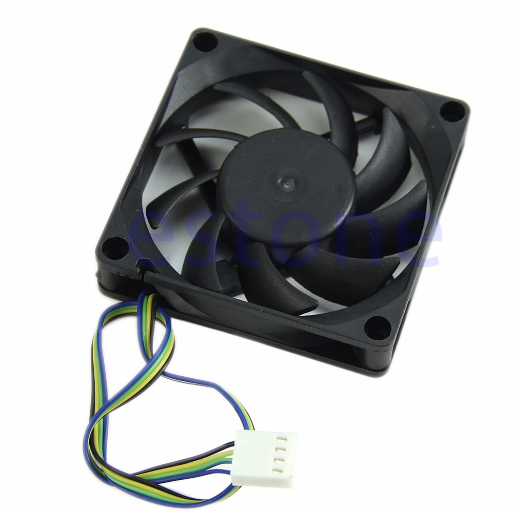 70mm x 15mm Brushless Fan DC 12V 4 Pin 9 Blade Cooler Cooling - L059 New hot 5010s dc 12v 0 1a brushless cooling fan 4 2cm diameter page 4