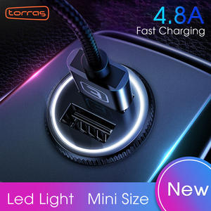 TORRAS 4.8A Car Charger For iPhone Lighting Dual USB Fast Charging Adapter