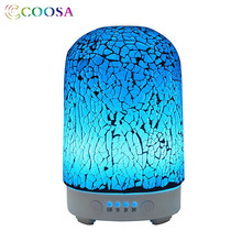 COOSA Emerald Broken Glass Ultrasonic Essential Oil Diffuser 100ml Air Humidifier Colorful Cool Mist for Home Office