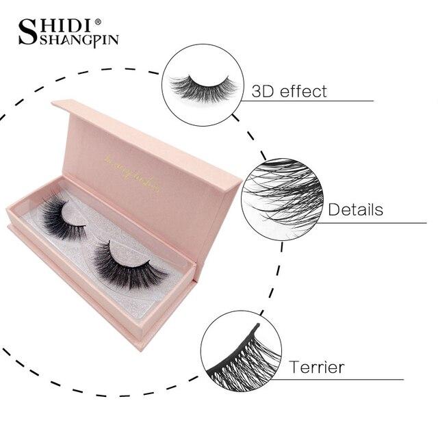 SHIDISHANGPIN 1 pair mink eyelashes handmade 3d mink lashes natural false eyelashes makeup long silk fake eye lashes volume lash