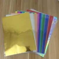 Gold Silber Red Hot Stanzen Folie Papier Laminator Laminieren Transfer auf Eleganz Laser Drucker Handwerk Papier 50 Pcs 20x29 cm A4