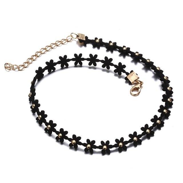 677d031aba26 Collares Europa Gótica Negro Cadena Choke Collar Simple Clubes de Baile de  Las Mujeres Colgante de