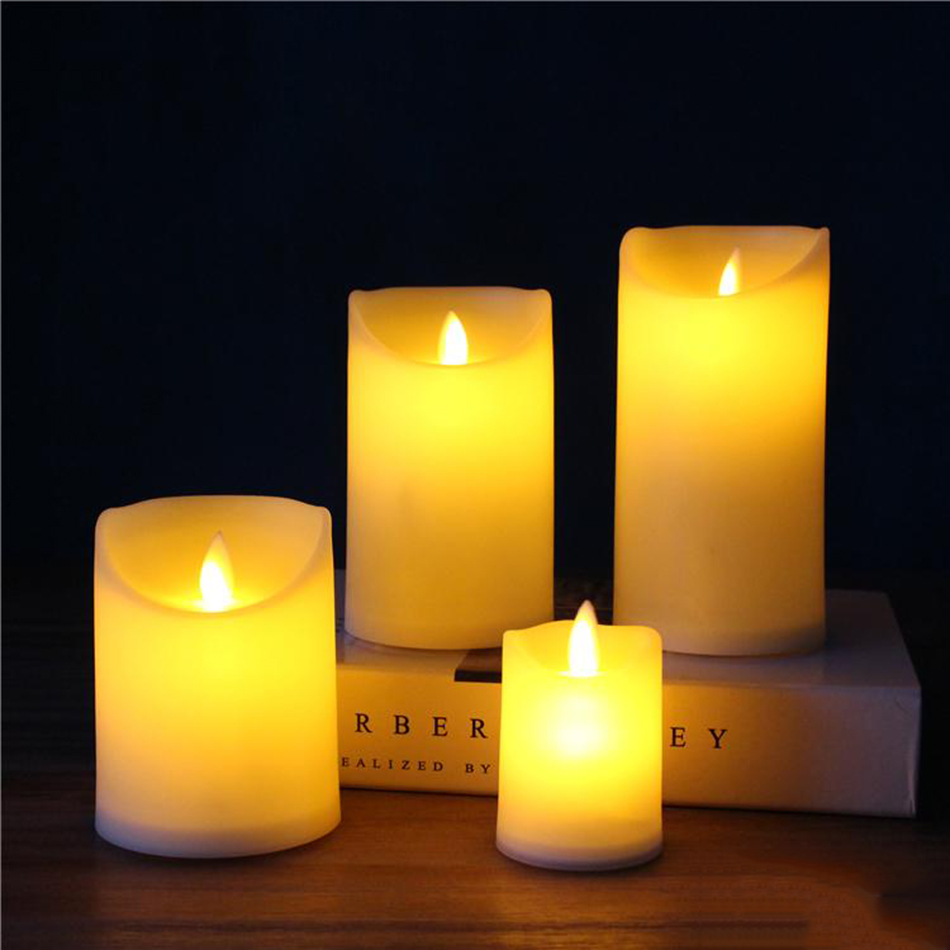 flameless plastic led pillar candle, LED candle light for wedding,birthday,Club,Outdoor activities decor.Chirstmas candle lamp