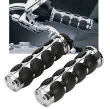 1″ Chrome Handle Bar Hand Grip For Harley Sportster Dyna Softail Bobber Cruiser