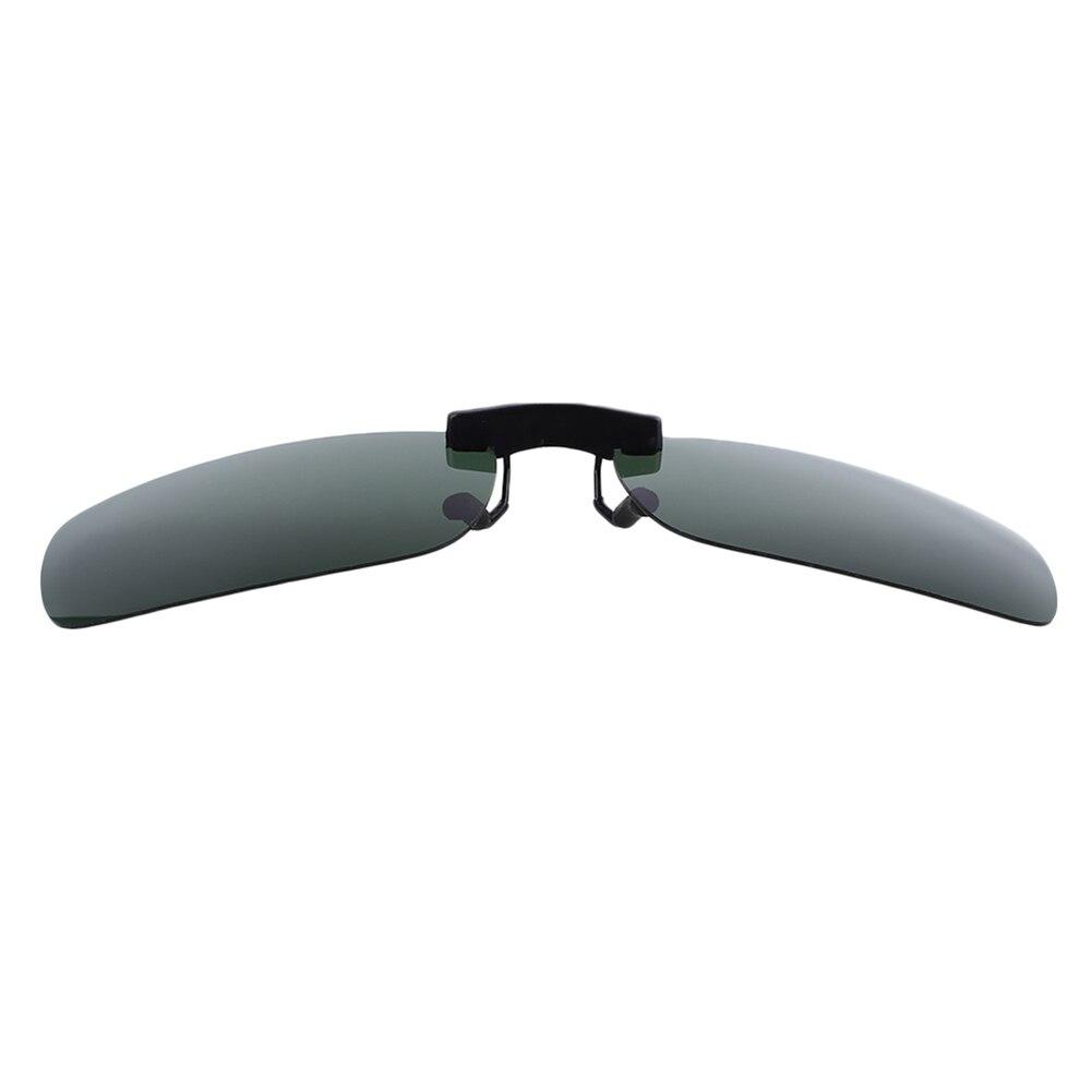 Смола поляризованные солнцезащитные очки из алюминиево-магниевого сплава кожаный чехол из искусственной кожи(солнечные очки с клипсой из UV400 защита для вождения - Цвет: Polarizing dark gree