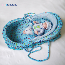 Portable baby bed with mosquito net portable game cotton folding children cover Baby cot crib 110*86*68cm