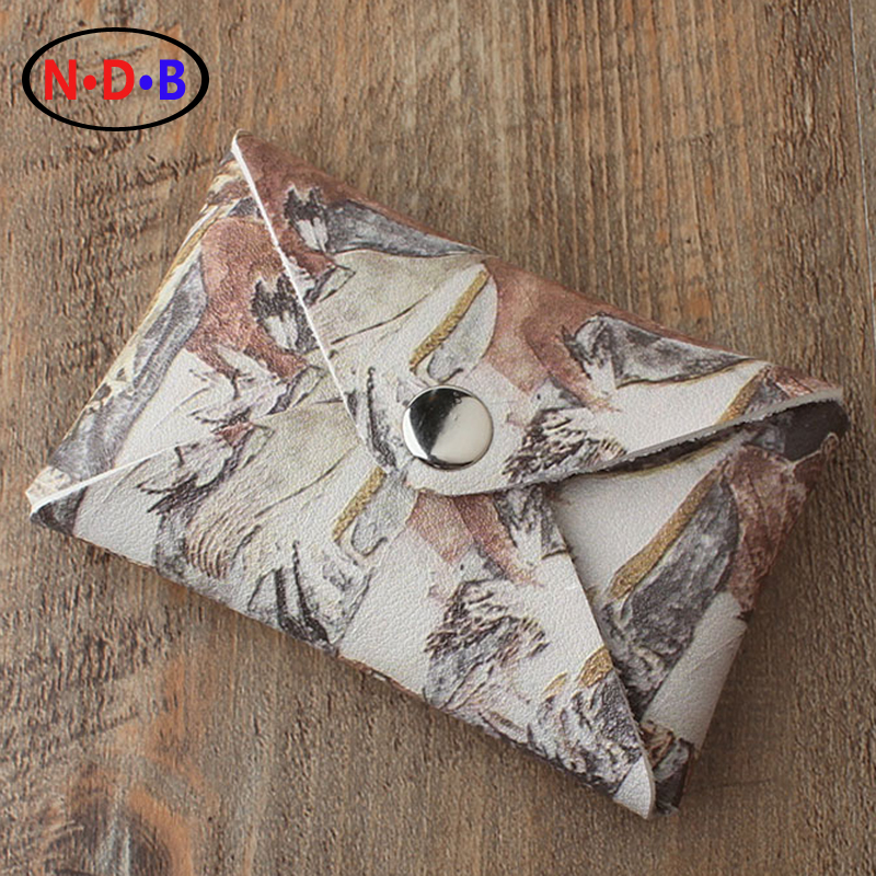 (Coin Purses)2016 new ancient Egyptian paintings with birds of the mans Pocket Wallet Card package Casual Short Mini coin bag