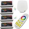 DC 5 V WiFi led controller hub + 12 V 24 V RGBW RF remoto + grupo de control 2.4G 4-zonas Controlador Inalámbrico para rgbw llevó la luz de tira