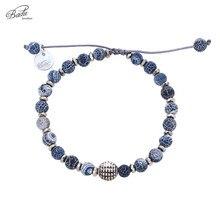 Badu Natural Stone Bracelet Adjustable Unisex Vintage Punk for Women Fashion Jewelry Cracked Agated Wholesale