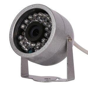 Image 3 - AZISHN cámara de vigilancia con Audio CMOS 700TVL, 30 luces LED de visión nocturna, seguridad exterior, Color metal, impermeable, CCTV
