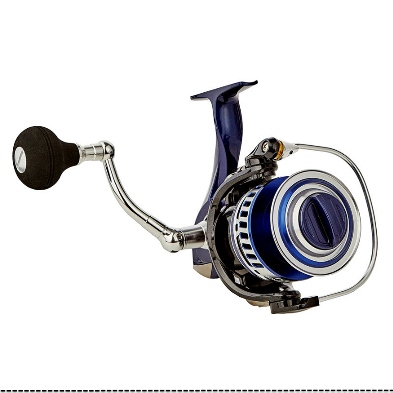Carretel de Pesca de Água Salgada Fiação Arrastar Design Rígida