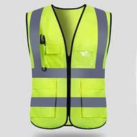 Odblaskowe kamizelki bezpieczeństwa do pracy w nocy ubrania wysokiej widoczności odzież robocza mężczyzna kobiet do biegania na świeżym powietrzu jazda na rowerze sport straży bezpieczeństwa