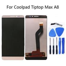 """Per Coolpad Tiptop Max A8 5.5 """"A8 531 a8 930 a8 831A Monitor LCD Display + Touch Display Digitale Dello Schermo di Vetro di Montaggio + strumenti"""