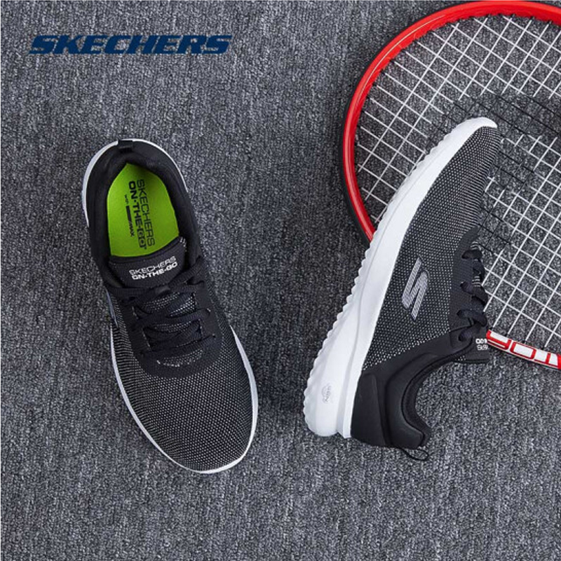 Skechers Shoes Woman Casual Shoes Comfortable Breathable Walking Women Shoes Trainers Brand Luxury Shoes Women 14763 BKW - 6