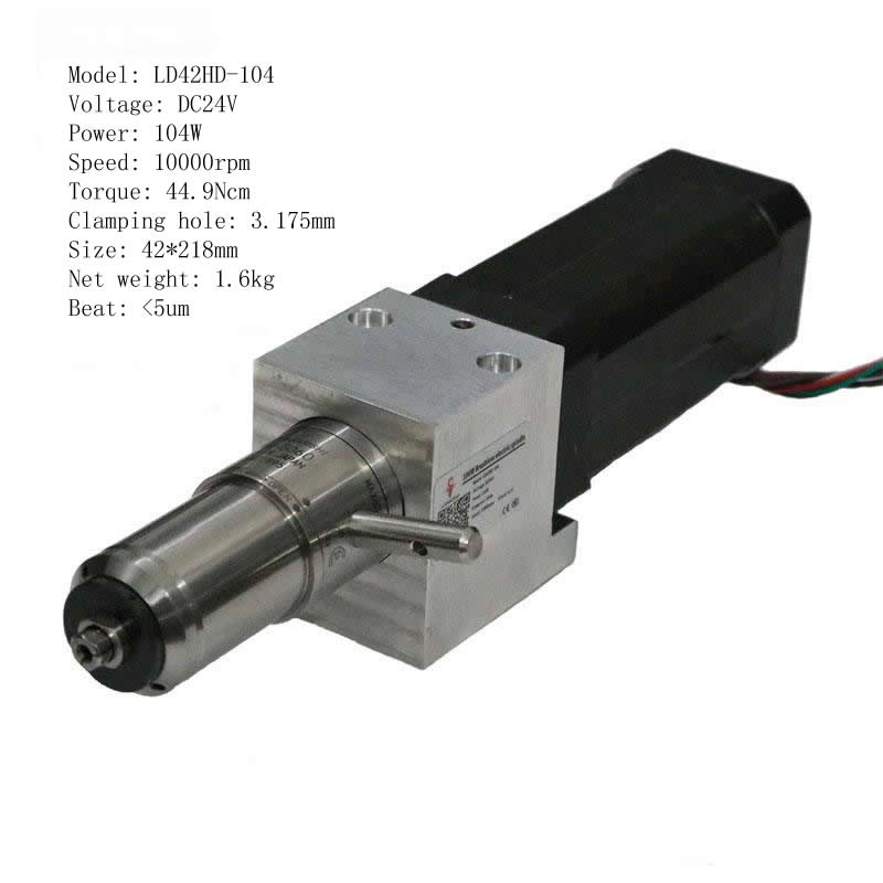 104w 10000rpm 44.9ncm Dc Motor Humor Pocket Nc Cnc Machine Tool Spindle Pcb Drilling Machine Man Robot Engraving Machine Tool Change Spindle Motors & Parts