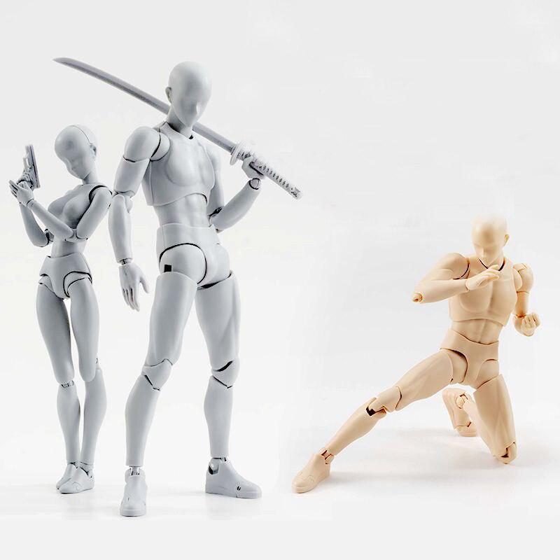 Alta qualidade corpo kun/corpo chan bjd cor cinza ver. Preto laranja pvc figura de ação collectible modelo brinquedo