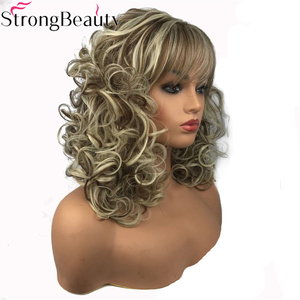 Image 5 - StrongBeauty Womens Long Curly Highlights Wigs Synthetic Wig Capless Hair