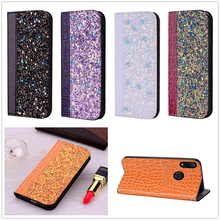 Note7 Bling Fundas for Redmi 6A 6 Pro Case Note 6 Coque Note 7 Pro Flip Leather Xiomi Hoesje Full Capa Wallet Crocodile PU Cover цена 2017