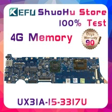 цена на KEFU UX31A For ASUS UX31A2 REV4.1 I5-3317U 4G Memory Touch ZenBook laptop motherboard tested 100% work original mainboard