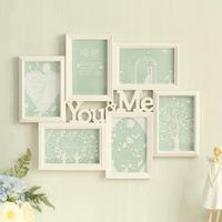 1set Creative plastic injection molding glass frame hanging wall 6 inch photo frame studio wedding photo frame SE4D5