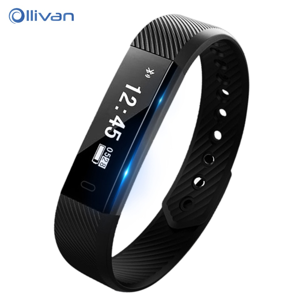 Ollivan Smart Band Bracelet Heart Rate Monitor Pedometer Fitness Tracker Smartband Wristband Bluetooth Bracelet For Android iOS