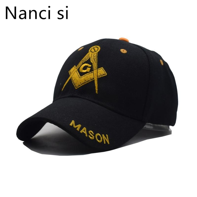 2018 Black Cap Mason Embroidery Baseball Cap Snapback Caps Casquette Hats Fitted Casual Gorras Patriot Cap For Men Women