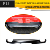 Black Painted PU Car Auto Diffuser Lip for Audi TT 8J Standard Bumper 2008 2010