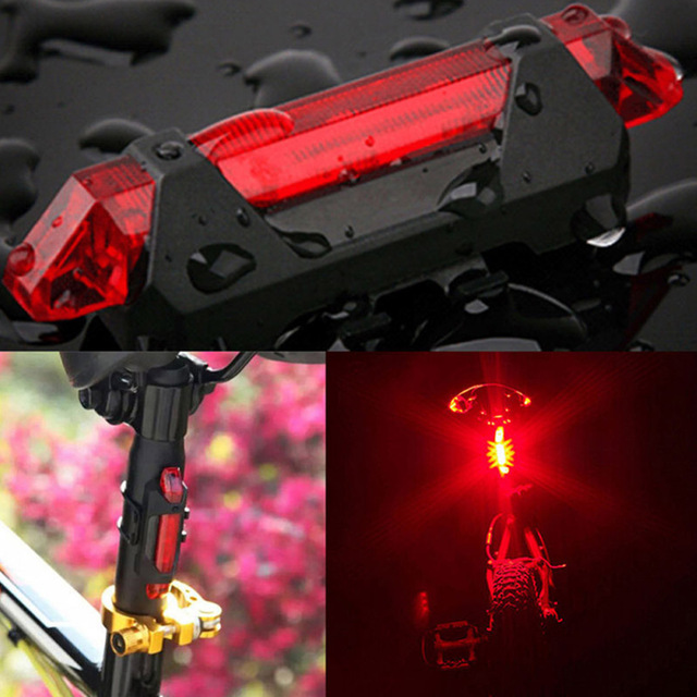 Portable USB Rechargeable Bike Bicycle Tail Rear Safety Warning Light Taillight  Lamp Super Bright ASD88 3