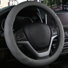 KKYSYELVA Car Sport Steering Wheel Cover Leather Auto Covers Universal 38CM wheel covers Inter Accessories