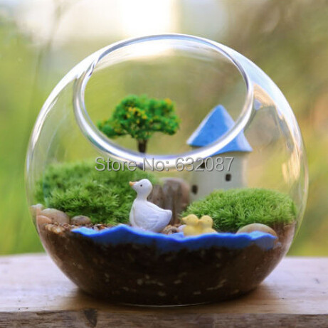 Aliexpress.com : Buy Diameter = 12CM 4pcs/pack Side Open Glass Terrarium  Vase Landscape Glass Container Home Decorative Glass Ornaments from  Reliable glass ... - Aliexpress.com : Buy Diameter = 12CM 4pcs/pack Side Open Glass
