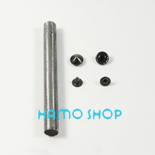 10mm Black Cone Rivet Brass Spike Studs Leather Craft Fashion Clothes Biker Rapid Punk Rock With Tool 100pcs/lot Free Shipping