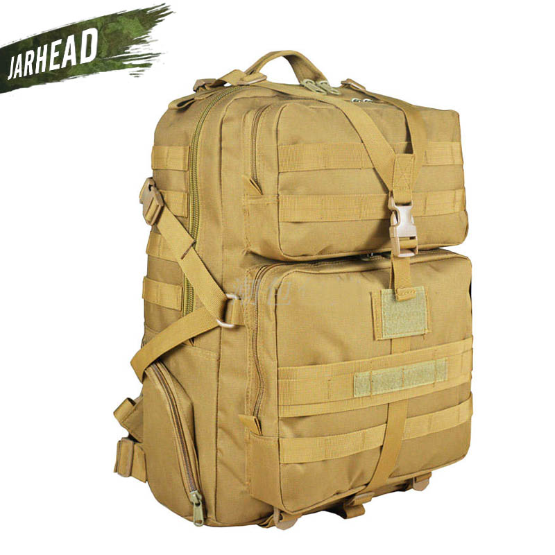 Military Outdoor Camouflage 45L Large Capacity Backpack Multifunctional Camping Tactical 3P Rucksack Hunting Hiking Sport Bag 65l outdoor sports multifunctional heavy duty backpack military hiking