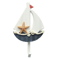 SZS Hot Mediterranean Style Wall Hooks Anchors Boat Shaped Living Room Hanging Decoration Nautical Decor Sailing section