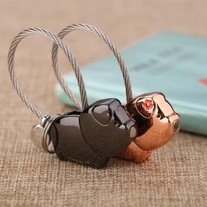 Image 4 - Milesi cute kiss Pig couple keychain for lover christmas gift women key holder chain keyring fashion souvenir pendant k0176