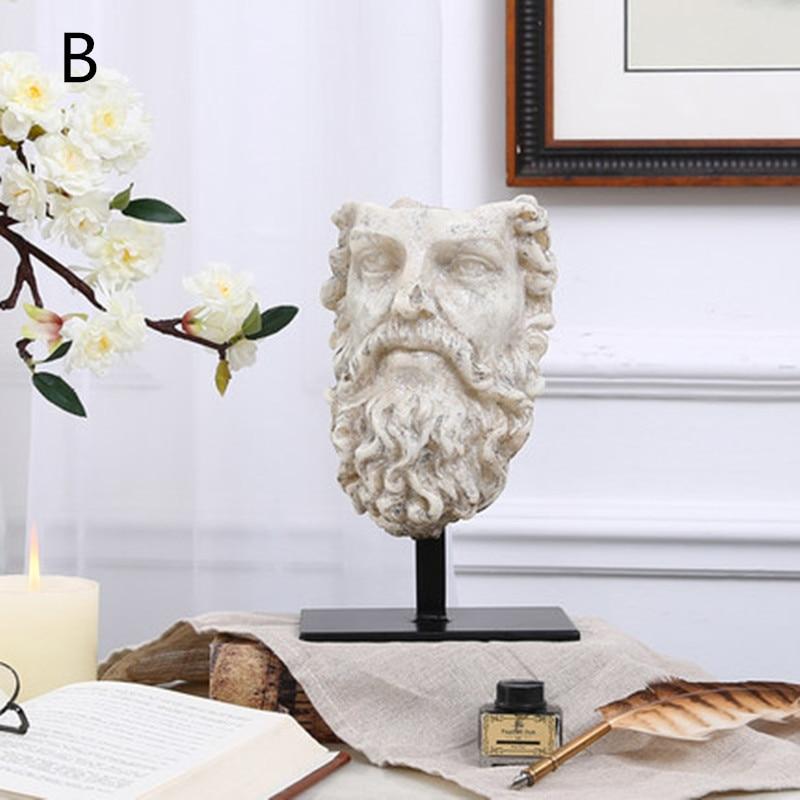 Greece Aphrodite Statue Varus the Arrow of Retribution Bust Homer Sfsdfsdf Head Portraits Resin Craftwork Home Decorations L2402