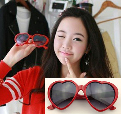 2d8bcdf92a Peppers love Sheenah with heart shaped glasses sunglasses sunglasses  wholesale 10 percent off red heart shape-in Sunglasses from Apparel  Accessories on ...