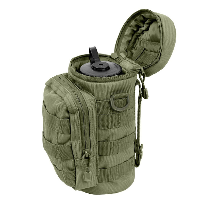 Molle Water Bottle Pouch Outdoor Military Tactical Kettle Wa