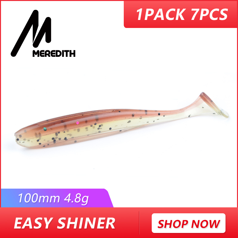 Meredith Easy Shiner Classic Soft Lures 10cm /4.8g 7pcs/lot Swimbaits Artificial Bait Silicone Lure Fishing Tackle Fishing Lures стоимость