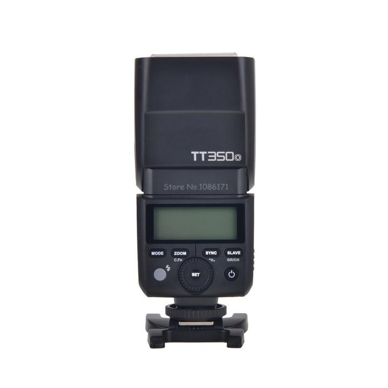GODOX TT350 Mini Flash Speedlite TT350o TTL HSS 1/8000s GN36 Flash Light for Olympus Panasonic Canon Nikon Sony Fuji DSLR Camera godox tt560 camera flash speedlite for canon 60d 550d 600d 700d 1000d 1100d nikon sony panasonic olympus fujifilm dslr cameras